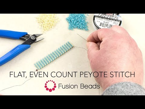 Learn The Basics Of Flat, Even Count Peyote Stitch By Fusion Beads