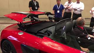 2018 Audi R8 Spyder roof operation training for Audi Sport