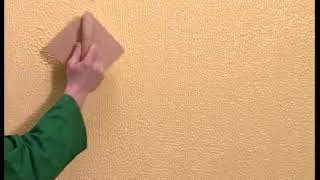 Техника нанесения декоративной штукатурки торцевой щеткой. Kreos Oikos.