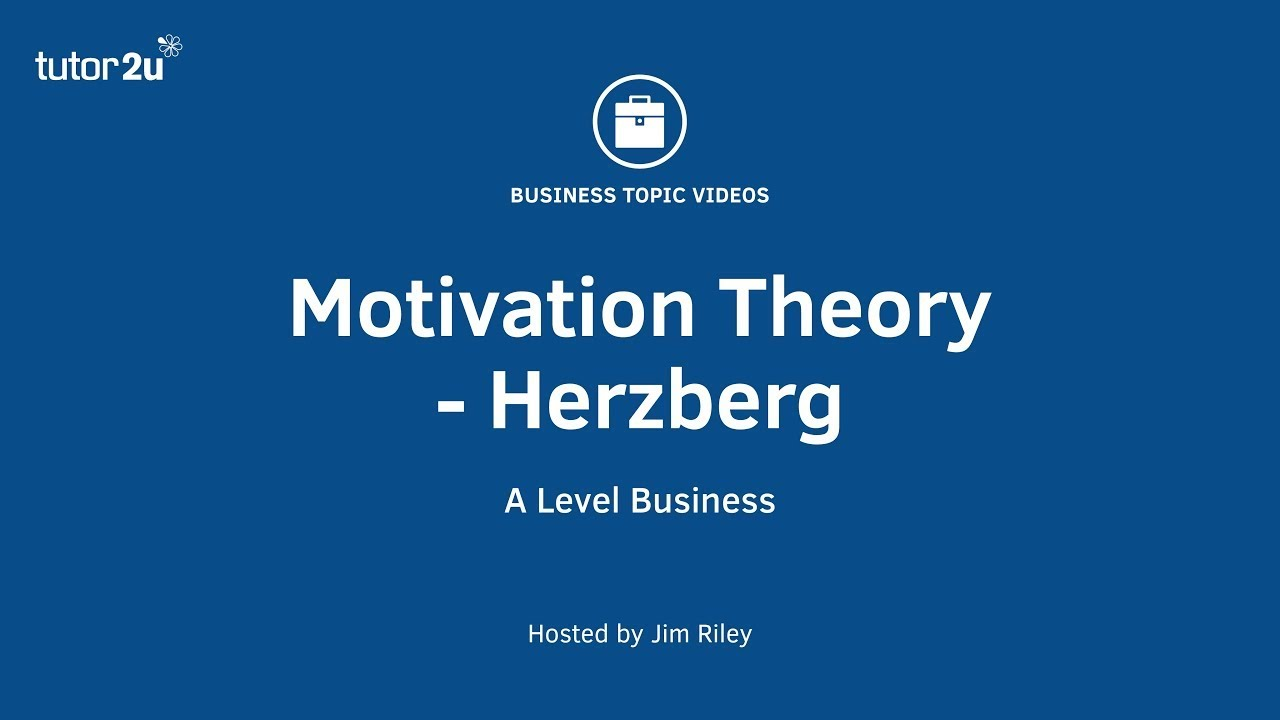 herzbergs two factor theory of motivati Herzberg's two-factor theory (motivation - hygiene) the theory has a lot in common with the earlier work of maslow's hierarchy of needs in that both claim that people won't, in the long run, be motivated just by external aspects of the job, such as pay or job security.