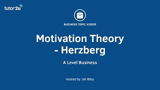 Motivation Theory: Herzberg (Two-Factor Theory) thumbnail