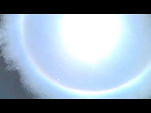 Spetacular Rainbow Or Halo Ring Around The Sun Seen In Surat,Gujarat,India