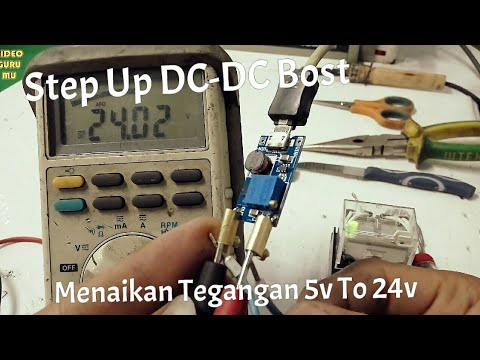 Menaikan Tegangan DC Dengan Modul Mini Step UP DC To DC, Tested Charger HP 5v - Out 24v Relay LY4N
