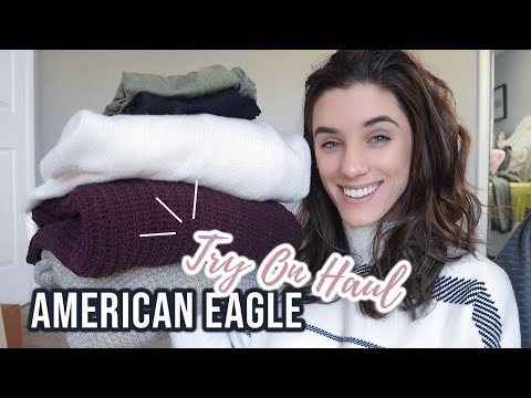$100+ AMERICAN EAGLE TRY ON HAUL | CYBER MONDAY || SWEATERS