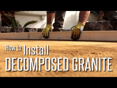 How to Install Decomposed Granite (DG) Step by Step.