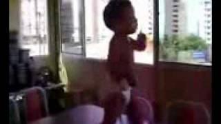 2 years old brazilian baby dancing waka waka it is so funny video by ashu rather
