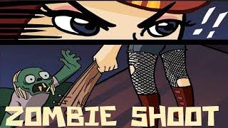 Игра мультик  Попади в Зомби# игры про зомби # видео для детей