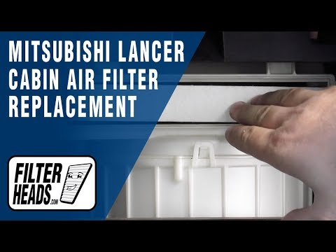 How to Replace Cabin Air Filter 2010 Mitsubishi Lancer