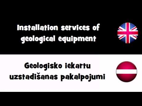 TRANSLATE IN 20 LANGUAGES = Installation services of geological equipment