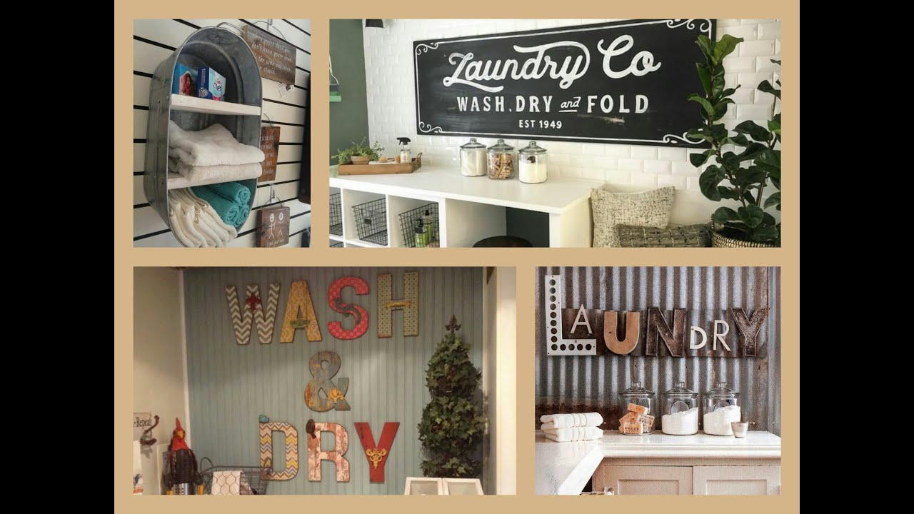 Laundry Wall Decor Laundry Room Decor Ideas  Diy Home Decorations  Youtube