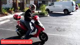 FALCON ELECTRIC MOPED RED | ElectricBikeScooterCar