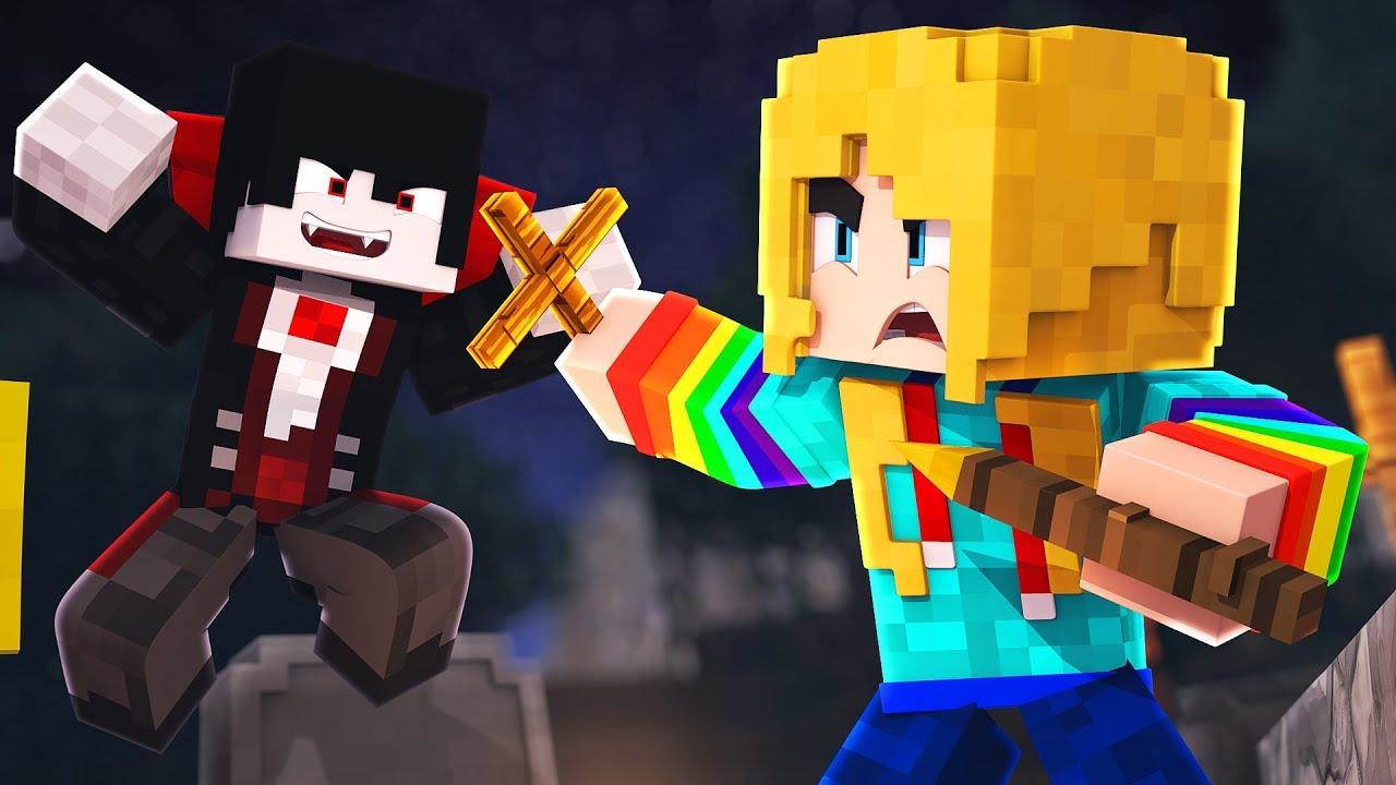 EVIL VAMPIRES AND MURDER CLOWNS!! | Minecraft Halloween Adventure
