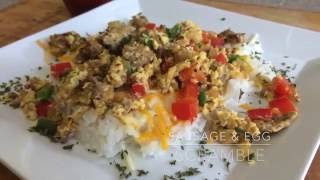 Egg, Sausage, and Pepper Scramble