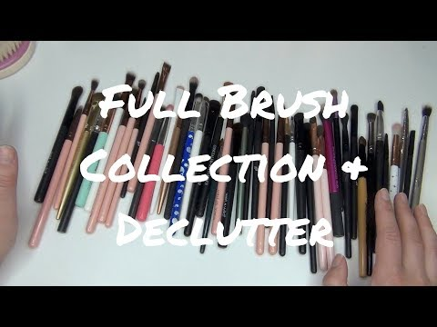 Brush Collection & Declutter 2018 | Face & Eye