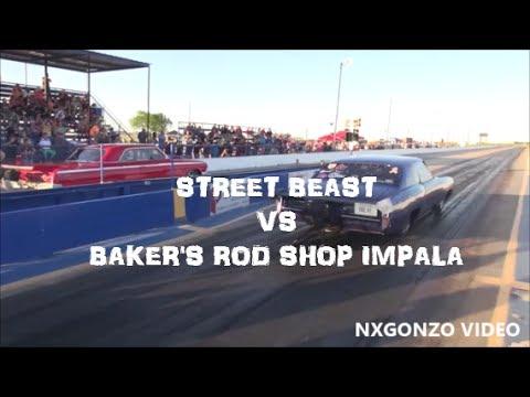 STREET BEAST vs Baker's Rod Shop Impala NO PREP SHOWDOWN