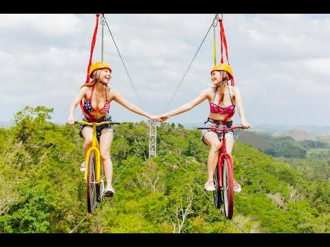 WORLDS FIRST BIKEZIP. The ultimate zipline experience on a BIKE. Bohol, Philippines.