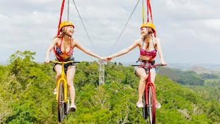 worlds first bikezip the ultimate zipline experience on a bike bohol philippines