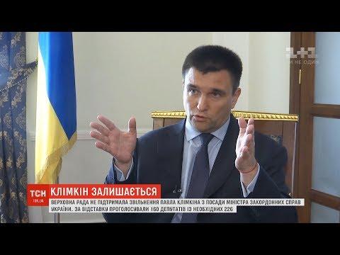 Верховна Рада не підтримала звільнення Павла Клімкіна