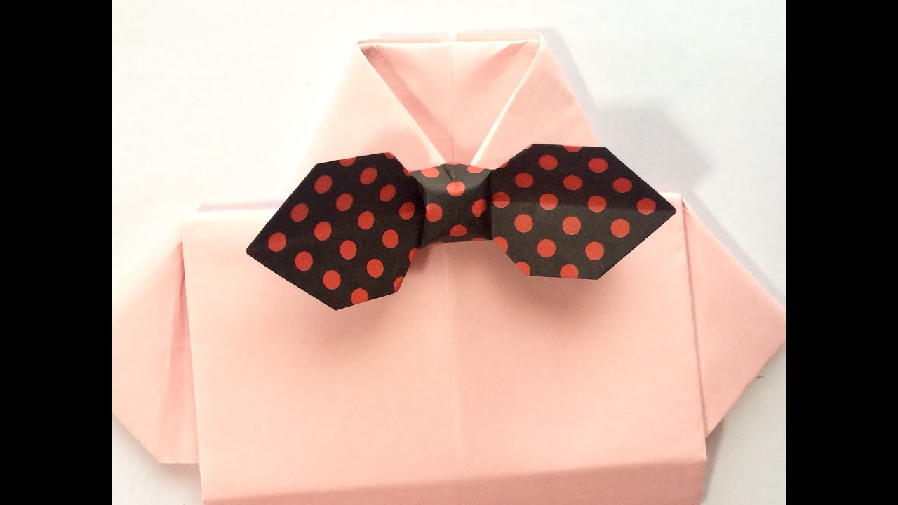 Origami a bow tie youtube
