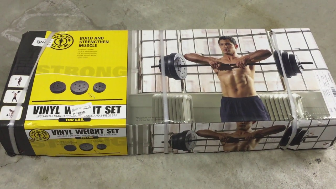 Gold s gym vinyl weight set lbs unboxing and setup youtube