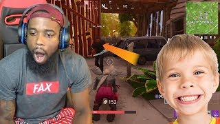 14 Year Old Stalker Carried Me And Finessed Me! Fortnite Battle Royale Duos