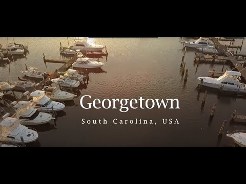 Georgetown SC - Sunrise to Sunset - Drone footage