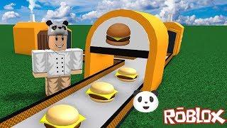 Hamburgerci Olduk!! - Panda ile Roblox Burger Factory Tycoon