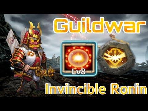 Guildwar - Ronin Bomb | Scorch + Survival Combination | 500k+ Target | Easy 75% Solo | Castle Clash