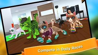 """Кошачьи Бега - Смешная игра про """"пьяных котиков"""":) Игровое видео для детей,  мультфильм, lat's play."""