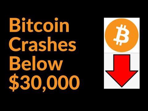 Bitcoin Crashes Below $30,000