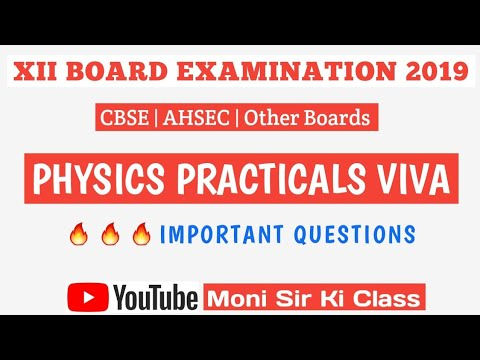 Important Physics Class 12 Viva Questions 2019
