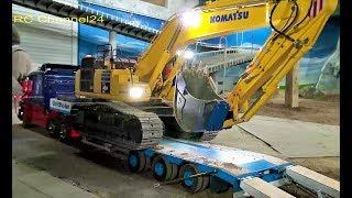 RC TRUCK ACTION! RC CRANE TRUCKS, RC TOW TRUCKS & RC EXCAVATOR TRANSPORTS!