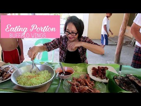 Eating Portion | Buffalo Wings and Pandan Fried Rice thumbnail