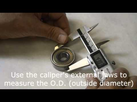 Measuring a Radial Ball Bearing with Calipers