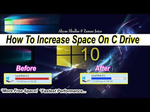 Add Unallocated Space To C Drive 2020 | How To Merge The Unallocated Space To C On Windows 7,8 & 10