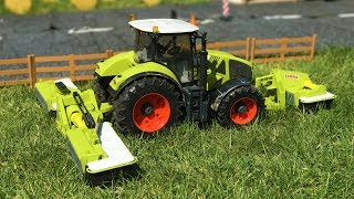 BRUDER TOYS tractors with Claas DISC MOWER | Kids learn | Farm toys