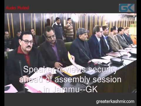 Speaker reviews security ahead of assembly session in Jammu