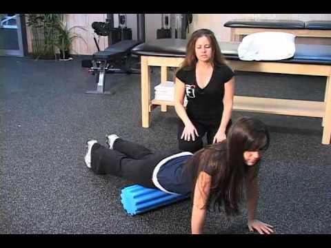 Thera Roll Foam Roller Quad Massage and Stretch