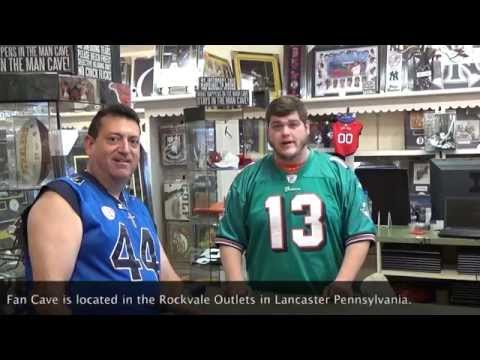 "What's new at ""Fan Cave"" (A Sports Memorabilia Store)....In the Rockvale Outlets in PA"
