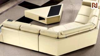 Tera - Beige Leather Sectional Sofa With Coffee Table Vg2t0646-hl