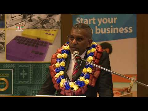 Fijian Minister for Industry and Trade, Hon. Faiyaz Koya launches Workshop at USP.