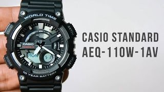 Casio standard AEQ-110W-1AV : Unboxing