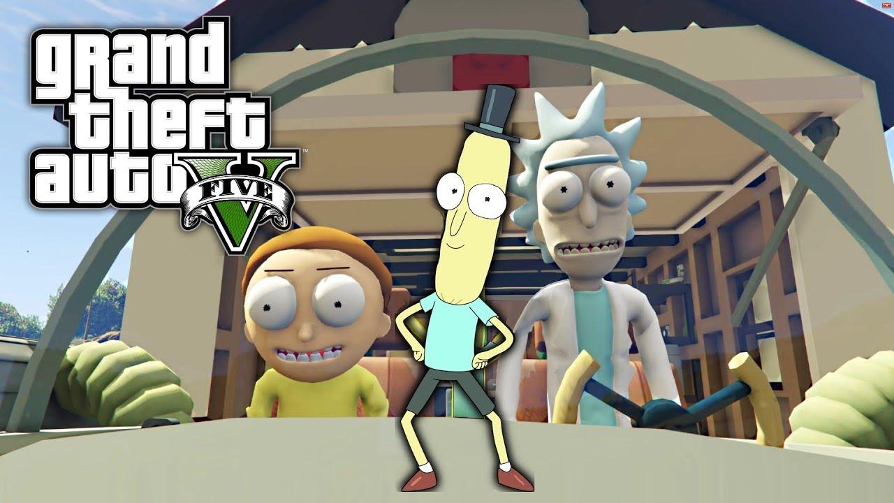 GTA 5 MOD - Portal Gun (Rick and Morty) - YouTube