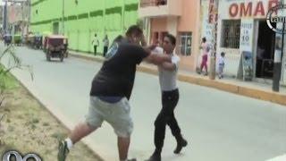 Tumbes: Violenta pelea callejera por un estacionamiento