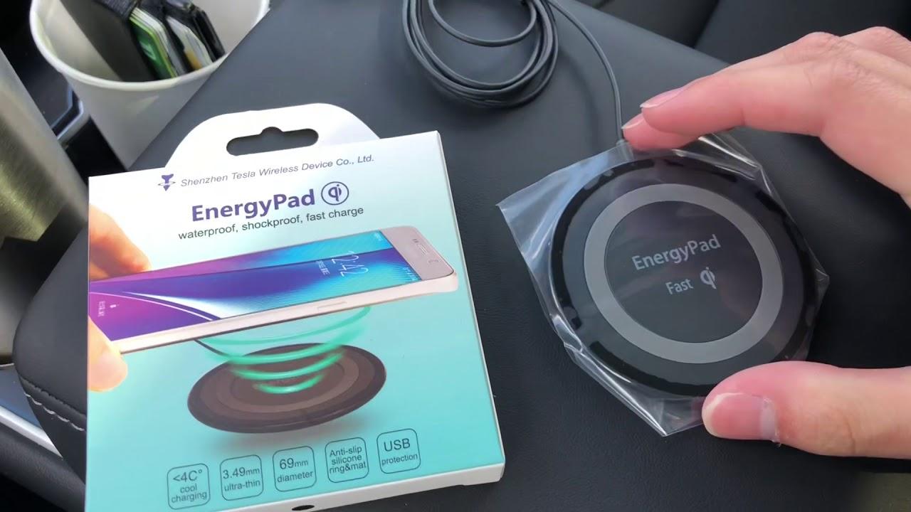 Tesla Model 3 Wireless Charging install (Qi Charging ...