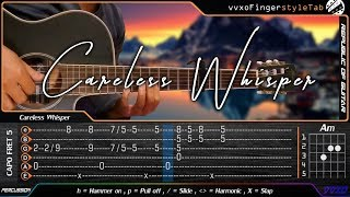 Download Careless Whisper - George Michael - Cover (Fingerstyle Guitar) + TABS Tutorial Mp3 and Videos