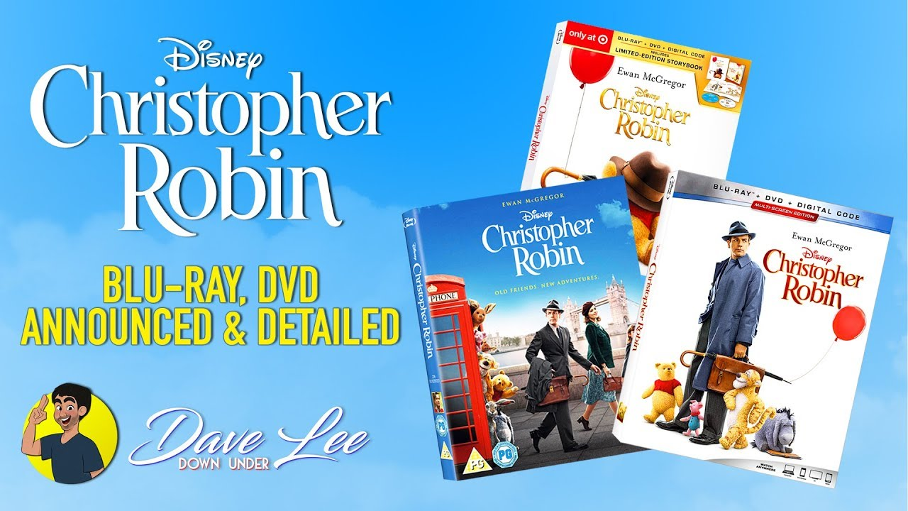 christopher robin blu ray dvd announced detailed youtube. Black Bedroom Furniture Sets. Home Design Ideas