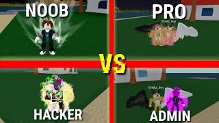 Noob VS Pro VS Hacker VS Admin   Dragon Ball   Roblox
