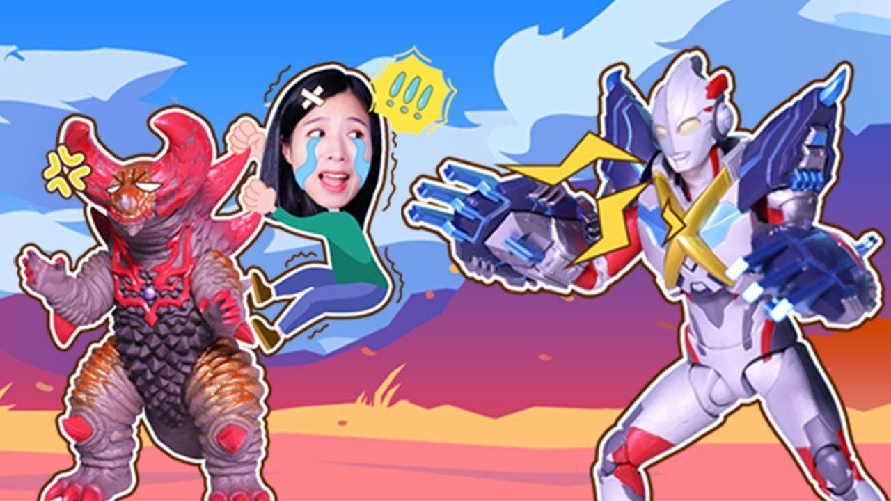 艾克斯奧特曼升級出擊!對戰哥莫拉怪獸軍團!Ultraman Institute丨阿哦玩具 ao toys