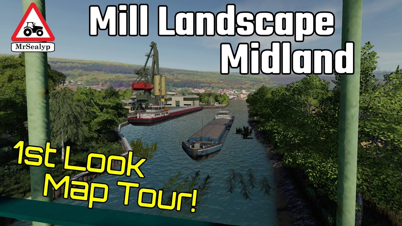 MILL LANDSCAPE MIDLAND, 1st Look Map Tour! Farming Simulator 19, PS4, New  Mod Map!